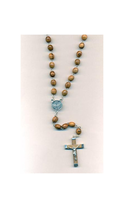 6-Pack - Olive Wood Rosary Oval Beads [19 in]