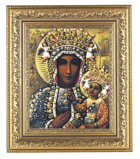Our Lady of Czestochowa In Antique Gold Frame 10.25X12.25-inch 8X10 Print