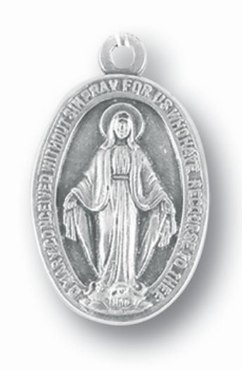 Miraculous Medal 1-inch Oxidized 25-Pack