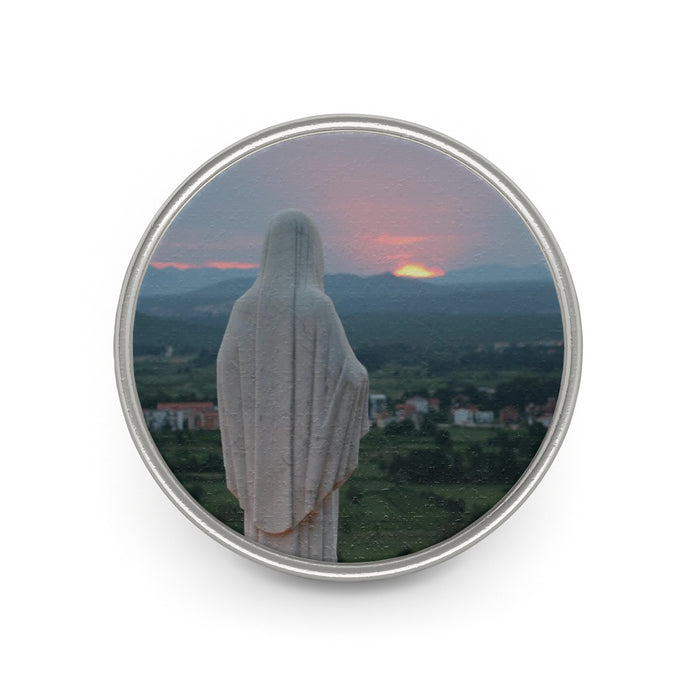 Our Mother at Sunset Pin