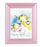 Guardian Angel With Lantern Print In Pink Frame