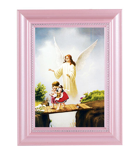 Guardian Angel Print In Pink Frame