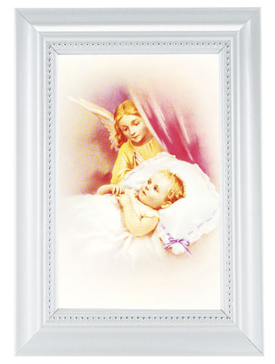 Guardian Angel Print In White Frame