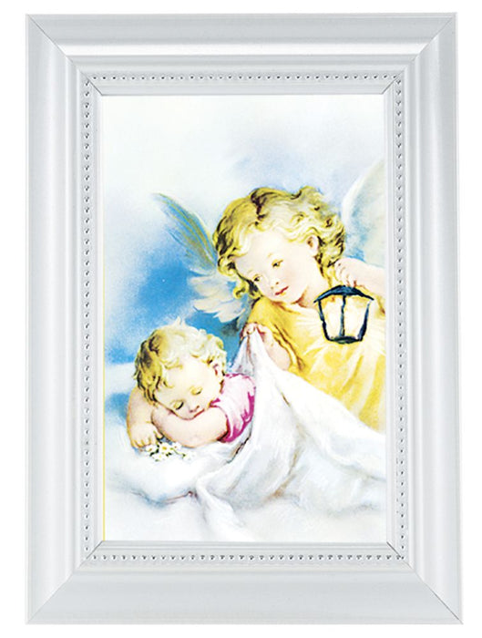 Baby Room Blessing Print In White Frame