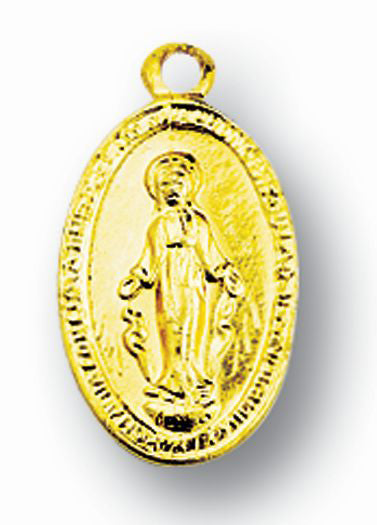Aluminum Gold Miraculous Medal 25-Pack
