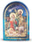 2.5-inchX3.5-inch Nativity With Lamb Single Arched Standing Plaque