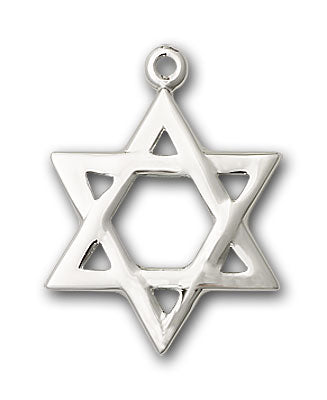 Sterling Silver Star of David Necklace Set