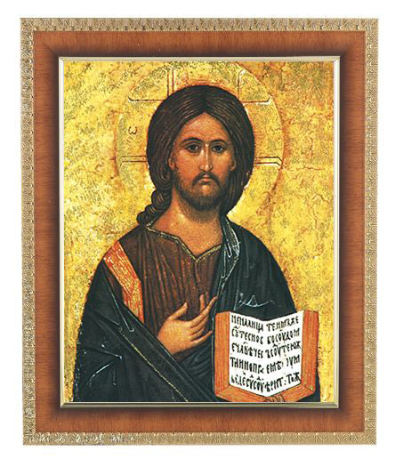 Christ All Knowing In Cherry Frame 10.25X12.25-inch 8X10 Print