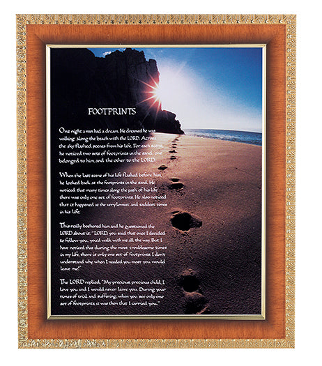 Footprints In Cherry Frame 10.25X12.25-inch 8X10 Print