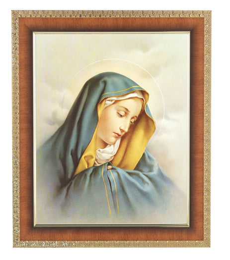 Our Lady Of Sorrow In Cherry Frame 10.25X12.25-inch 8X10 Print