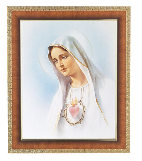 Immaculate Heart Of Mary Cherry Frame 10.25X12.25-inch 8X10Prt