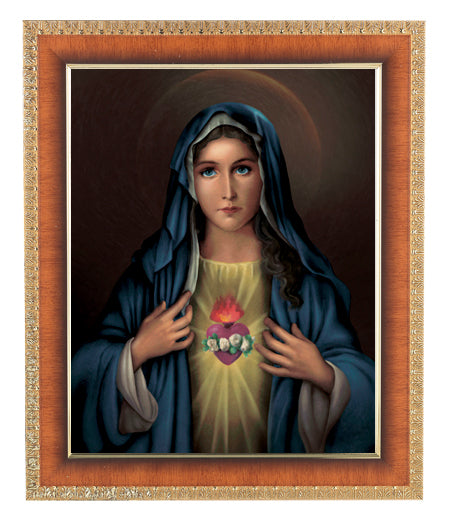 Immaculate Heart Of Mary Cherry Frame 10.25X12.25-inch 8X10 Print