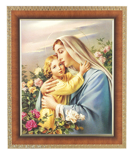 Madonna and Child Cherry Frame 10.25X12.25-inch 8X10 Print