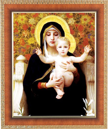 Bouguereau: Madonna Of The Roses Cherry Frame 10.25X12.25-inch 8X10Prt
