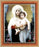 Bouguereau: Madonna And Child Cherry Frame 10.25X12.25-inch 8X10Prt