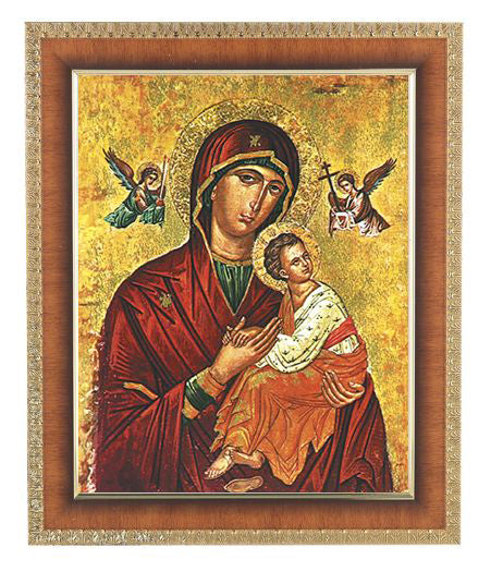 Our Lady Of Passion In Cherry Frame 10.25X12.25-inch 8X10 Print