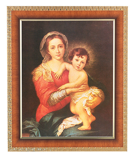 Murillo: Madonna And Child Cherry Frame 10.25X12.25-inch 8X10Prt