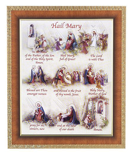 Hail Mary In Cherry Frame 10.25X12.25-inch 8X10 Print