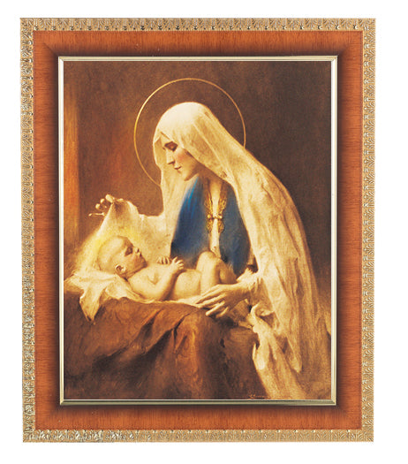 Chambers: Madonna and Child Cherry Frame 10.25X12.25-inch 8X10Prt