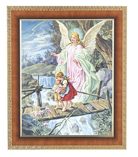 Guardian Angel In Cherry Frame 8X10 Print