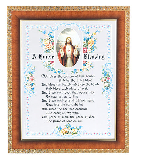 House Blessing-Shj In Cherry Frame 10.25X12.25-inch 8X10 Print
