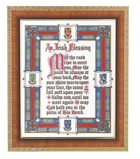 Irish Blessing In Cherry Frame 10.25X12.25-inch 8X10 Print