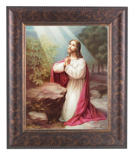 Christ On Mt. Olive In Art Deco Frame 10.25X12.25-inch 8X10 Print