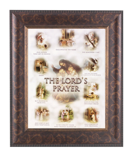Lords Prayer In Art Deco Frame 10.25X12.25-inch 8X10 Print