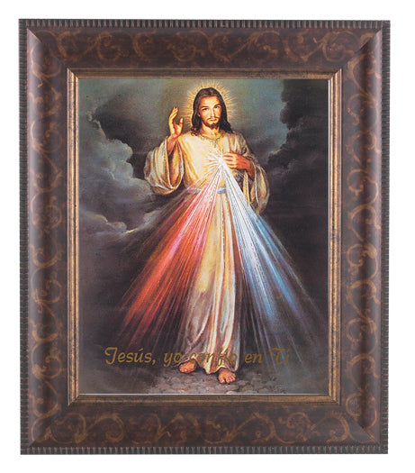 Divine Mercy (Spanish)8X10 In Art Deco Frame 10.25X12.25