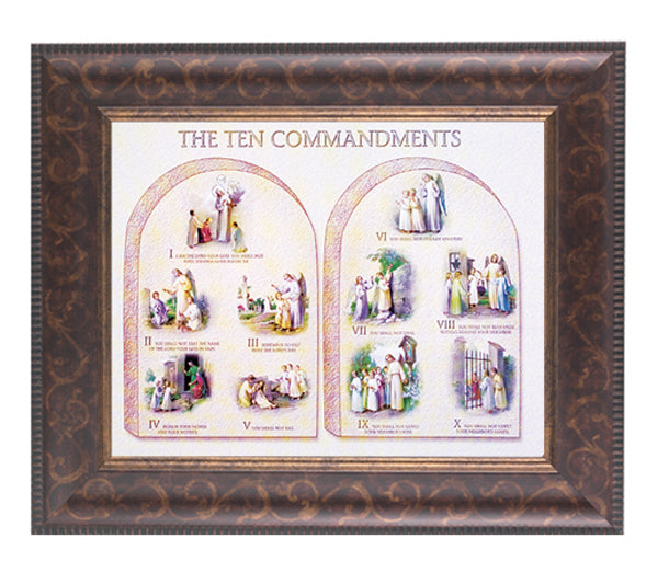 The Ten Commandments In Art Art Frame 10.25X12.25-inch 8X10 Print