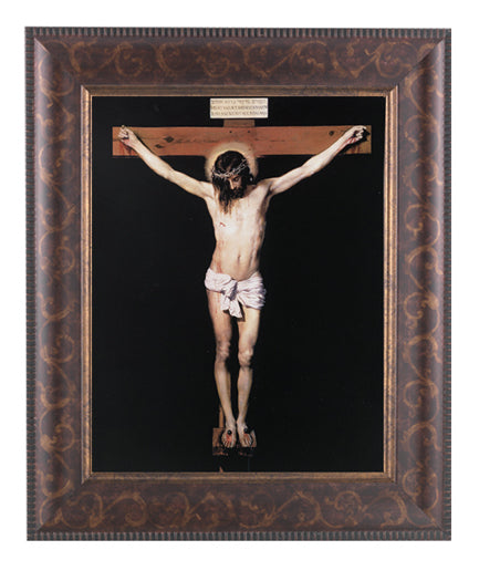 Crucifixion In Art Deco Frame 10.25X12.25-inch 8X10 Print
