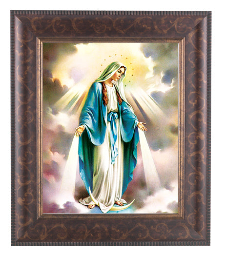 Our Lady Of Grace In Art Deco Frame 10.25X12.25-inch 8X10 Print