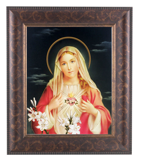 Immaculate Heart Of Mary 8X10 Art Deco Frame 10.25X12.25