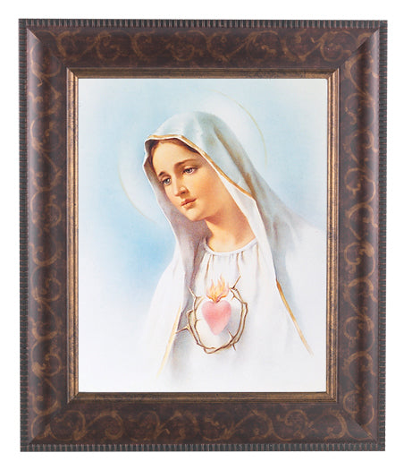 Immaculate Heart Of Mary Art Deco Frame 10.25X12.25-inch 8X10Prt