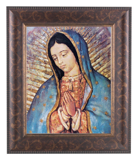 Our Lady Of Guadalupe In Art Deco Frame 10.25X12.25-inch 8X10Prt