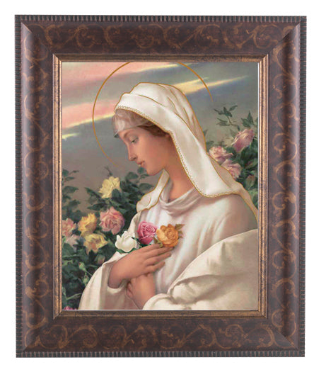 Mystical Rose In Art Deco Frame 10.25X12.25-inch 8X10 Print