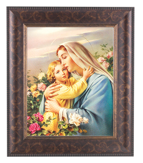 Madonna and Child Art Deco Frame 10.25X12.25-inch 8X10 Print