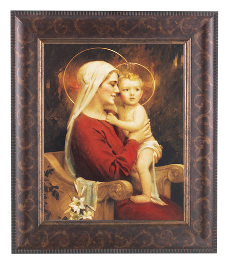 Chambers: Madonna and Child Art Deco Frame 10.25X12.25-inch 8X10Prt