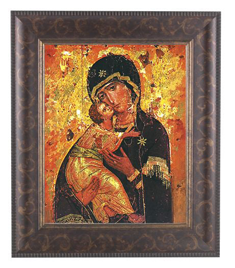 Our Lady Of Vladimir In Art Deco Frame 10.25X12.25-inch 8X10 Print