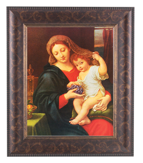 Madonna Of The Grapes In Art Deco Frame 10.25X12.25-inch 8X10Prt