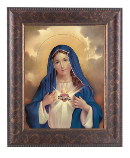 Immaculate Heart Of Mary 8X10Rt Art Deco Frame 10.25X12.25