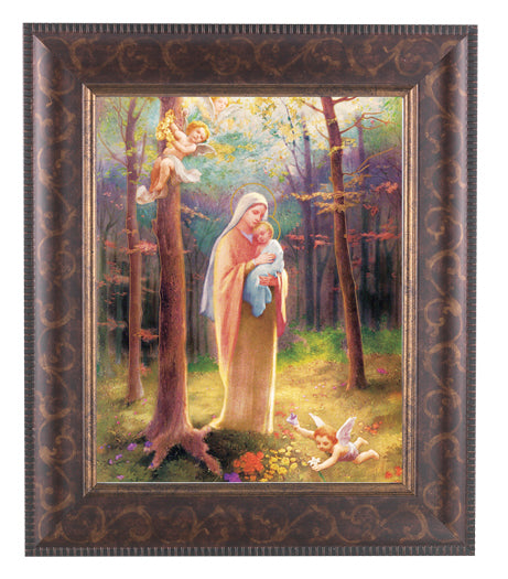 Madonna Of The Woods Art Deco Frame 10.25X12.25-inch 8X10 Print