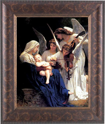 Bouguereau: Heavenly Melodie Art Deco Frame 10.25X12.25-inch 8X10Prt