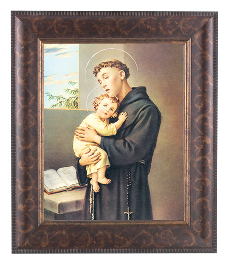 Saint Anthony In Art Deco Frame 10.25X12.25-inch 8X10 Print