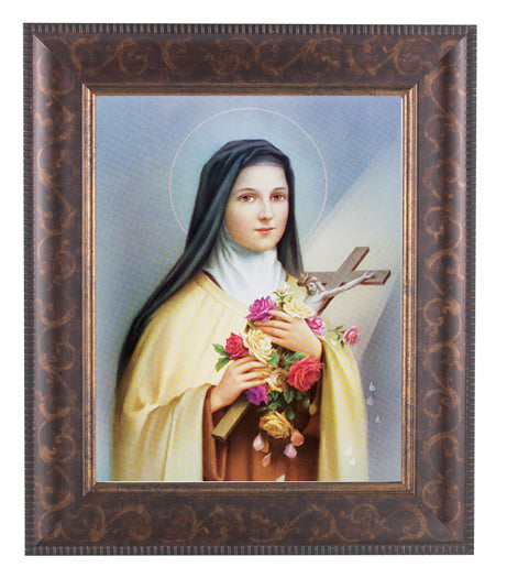 Saint Therese In Art Deco Frame 10.25X12.25-inch 8X10 Print