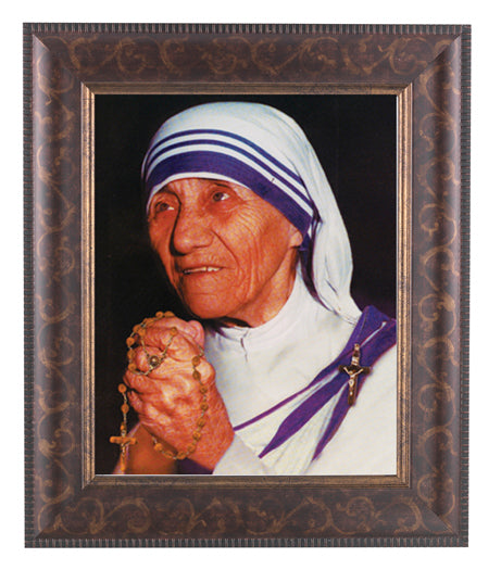 Mother Teresa Art Deco Frame 10.25X12.25-inch 8X10 Print