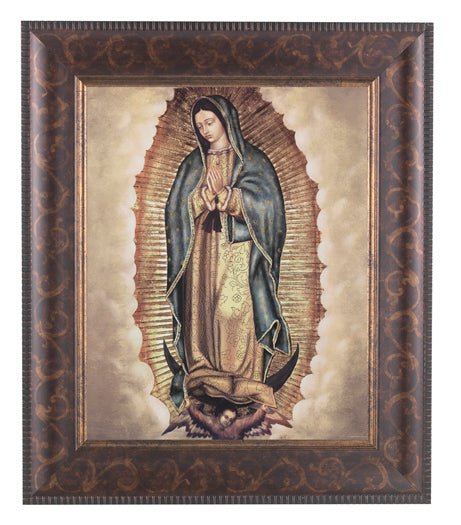Our Lady Of Guadalupe In Arat Deco Frame 10.25X12.25-inch 8X10Prt