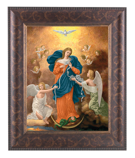 Our Lady Untier Of Knots Art Deco Frame 10.25X12.25-inch 8X10 Print