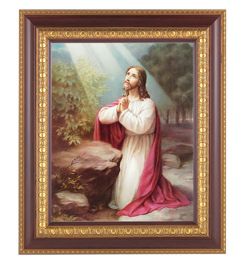 Christ On Mt. Olive In Cherry Frame 10.25X12.25-inch 8X10 Print