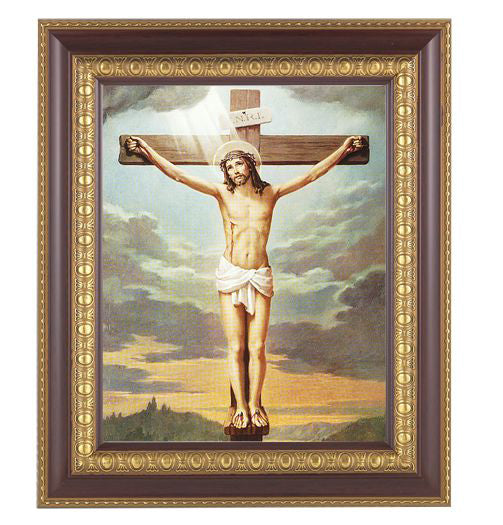 Crucifixion In Cherry Frame 10.25X12.25-inch 8X10 Print
